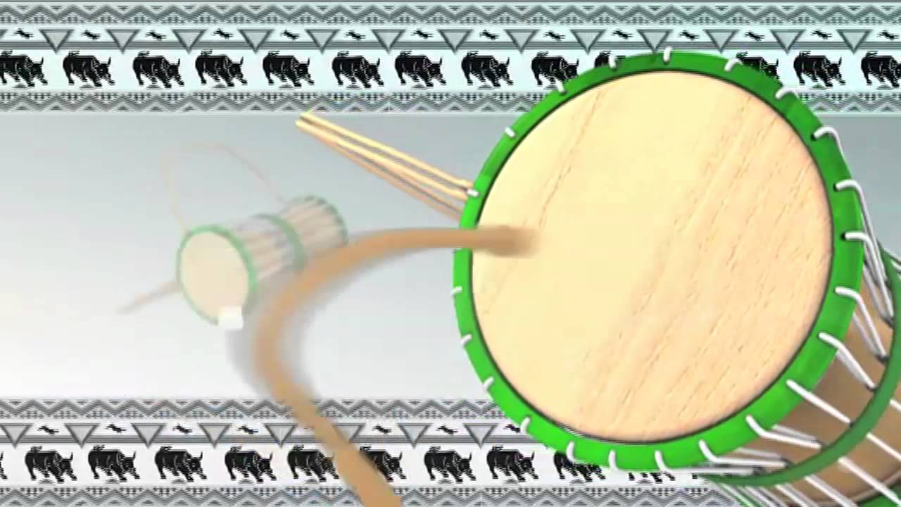 African Talking Drum Animation