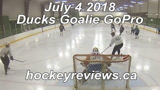 July 4th 2018 Ducks Hockey Goalie GoPro