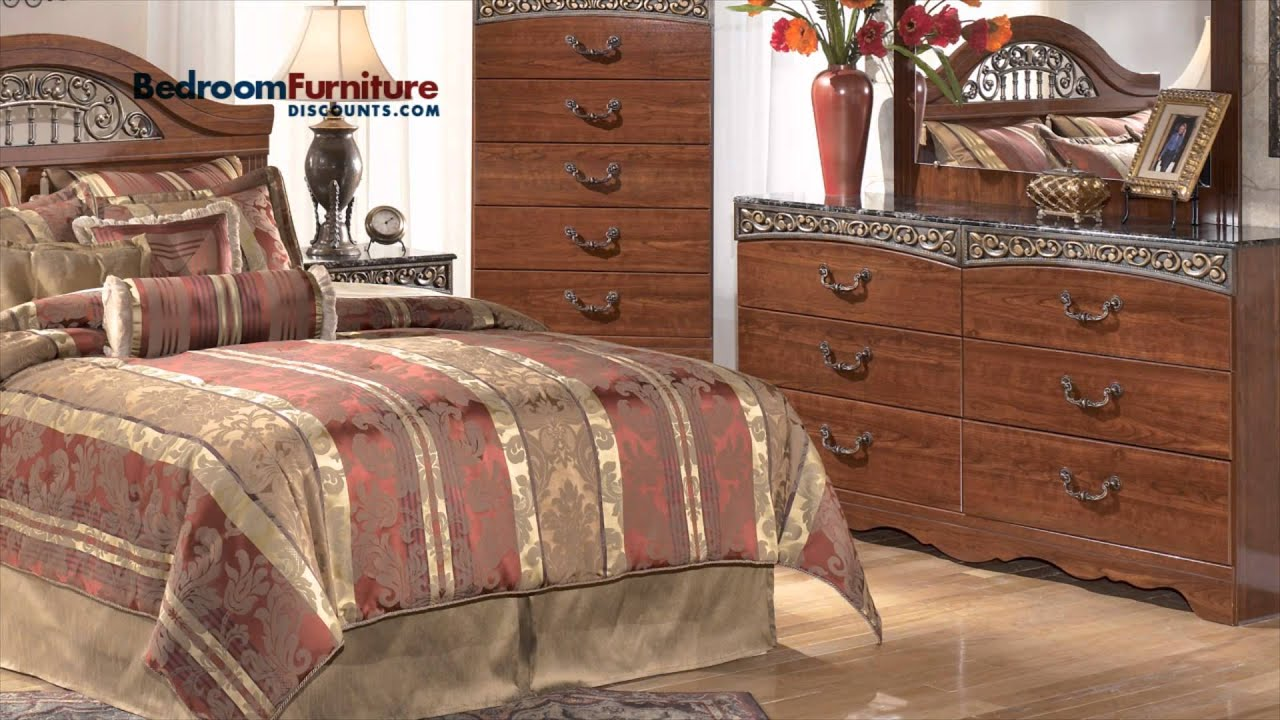 Ashley Fairbrooks Estate 4 Piece Headboard Bedroom Set Youtube