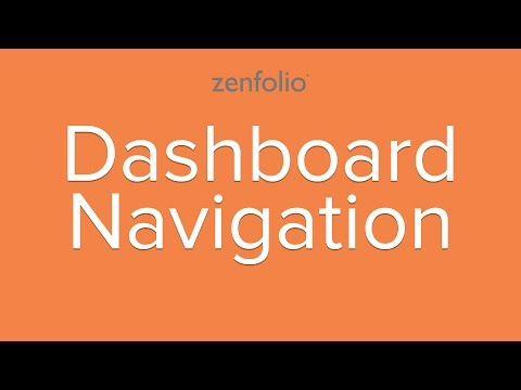 How to use your Dashboard - learn your way around the Zenfolio Dashboard