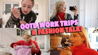 MY OOTD, WORK TRIPS & LETS TALK FASHION!! 😱