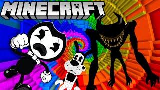 Download BENDY & BORIS GO DOWN THE DROPPER IN MINECRAFT! (BATIM Minecraft Map) Mp3 and Videos