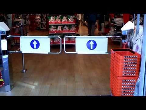 Brand new automatic gates @ Blokker @ Shopping Mall Streekhof in Grootebroek