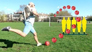 IMPOSSIBLE SOCCER TRICK SHOTS!! (CROSSBAR CHALLENGE)