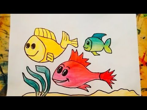 Deniz Altinda Baliklar Nasil Cizilir Youtube