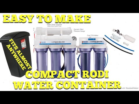Compact RODI Water Container