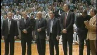 Carolina Basketball - 1957 & 1982 Teams Honored at Dome