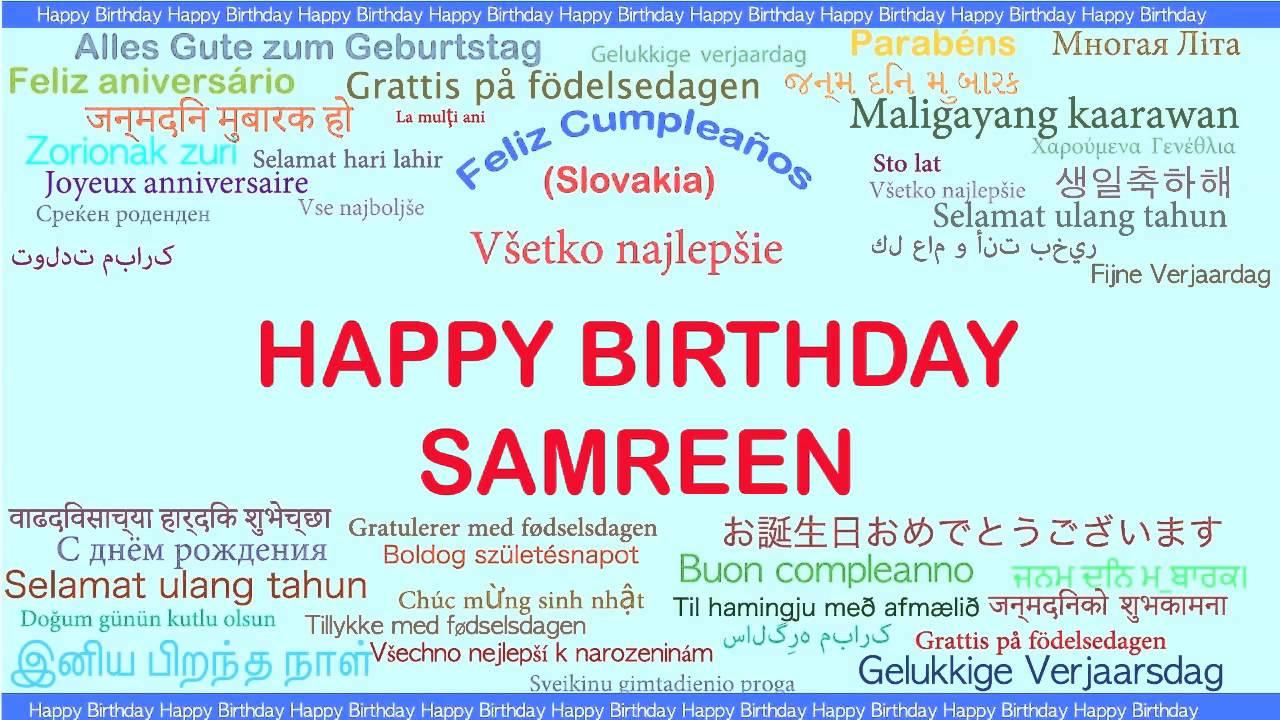 grattis på födelsedagen meaning Samreen Languages Idiomas   Happy Birthday   YouTube grattis på födelsedagen meaning