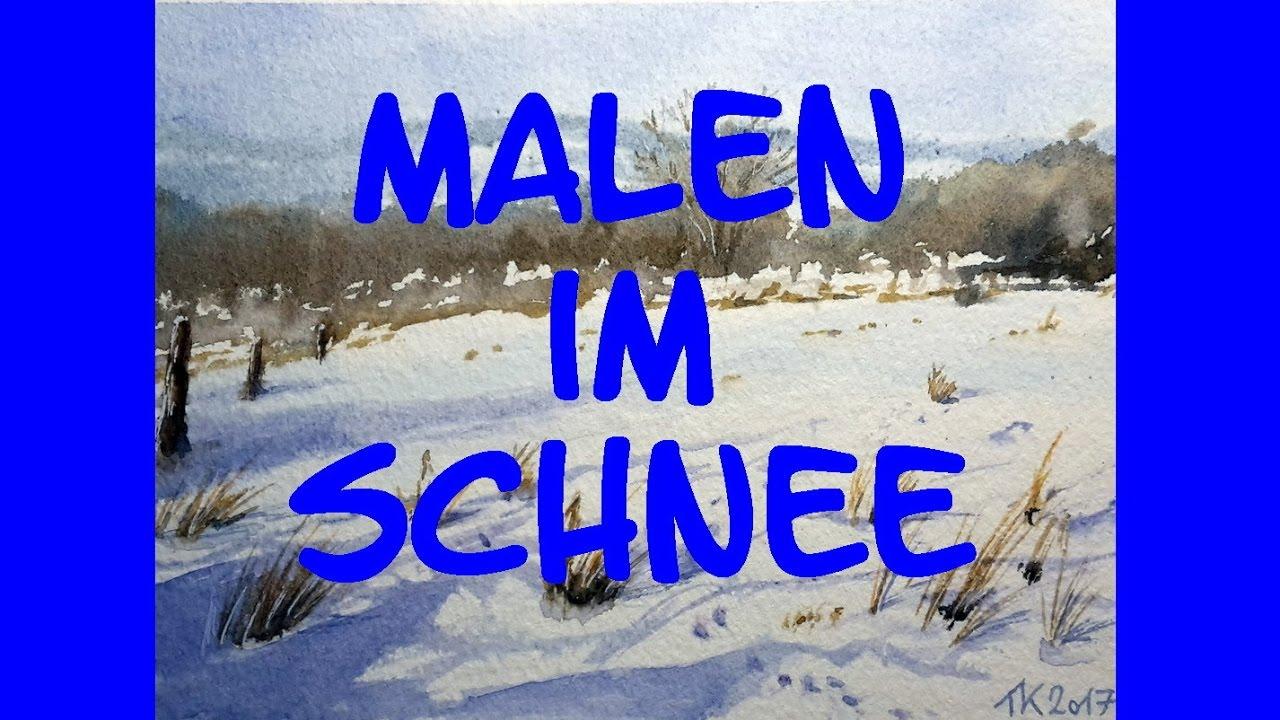 malen im schnee winterlandschaft im taunus plein air