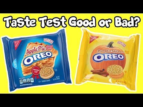 Oreo Apple Pie And Pumpkin Spice Cookies Taste Test