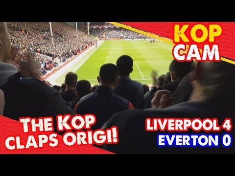 Standing Ovation for Injured Origi!   Liverpool 4-0 Everton   Kop Cam