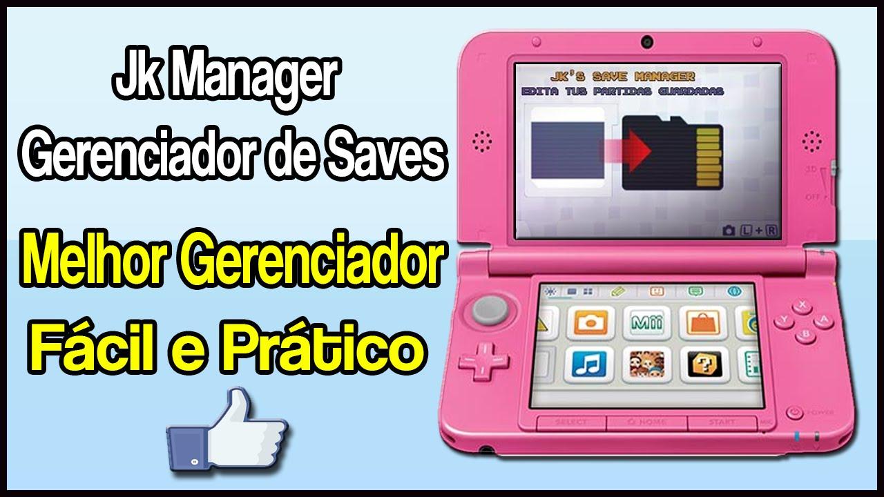 [3DS] JK Save Manager - Gerenciador de Saves (Recomendado)