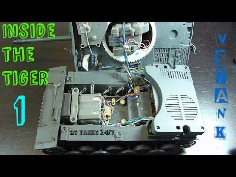 Tiger 1 RC VsTank Pro 2.4ghz Look Inside & Tear Down