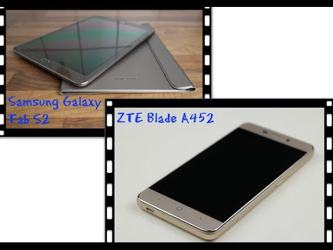 ZTE Blade A452 GOLD |720p Test Akku App2SD| Samsung Galaxy Tab S2 GOLD |unboxing|