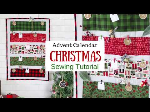 DIY Christmas Advent Calendar Sewing Tutorial