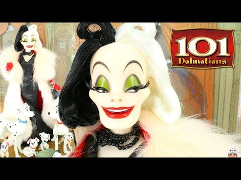 DISNEY  Cruella De Vil Pongo Perdita & PUPPIES Doll Review LIMITED EDITION  101 Dalmatians
