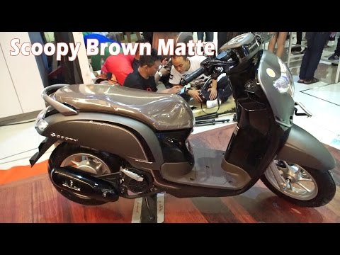 Scoopy Warna Coklat Keren Honda Scoopy Terbaru 2017 Indonesia All New Honda Scoopy Matte Brown Youtube