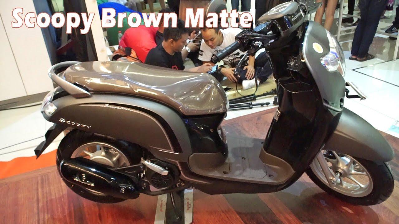 89 Modifikasi Scoopy Stylish Matte Brown Kumpulan Modifikasi