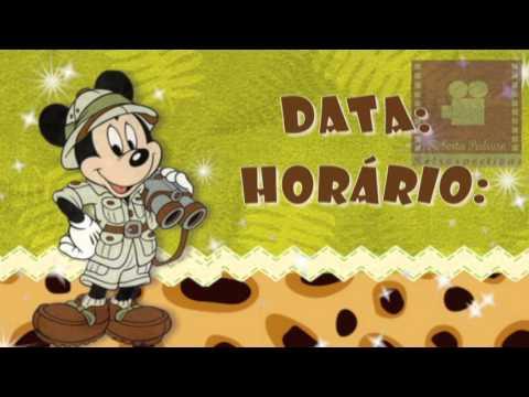 Convite Virtual Animado Mickey Safari Youtube