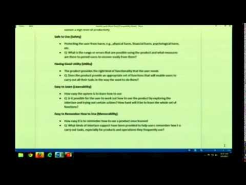 HCI Usability Goals: LT2, Slide 21 & Doc