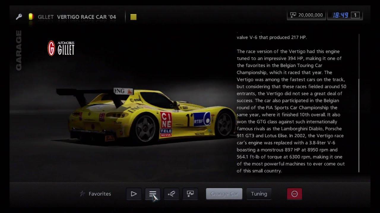 Gillet Vertigo Race Car
