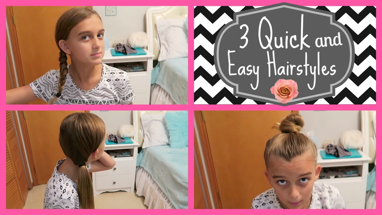 How To Do 3 Quick Easy Hairstyles Dance Gymnastics