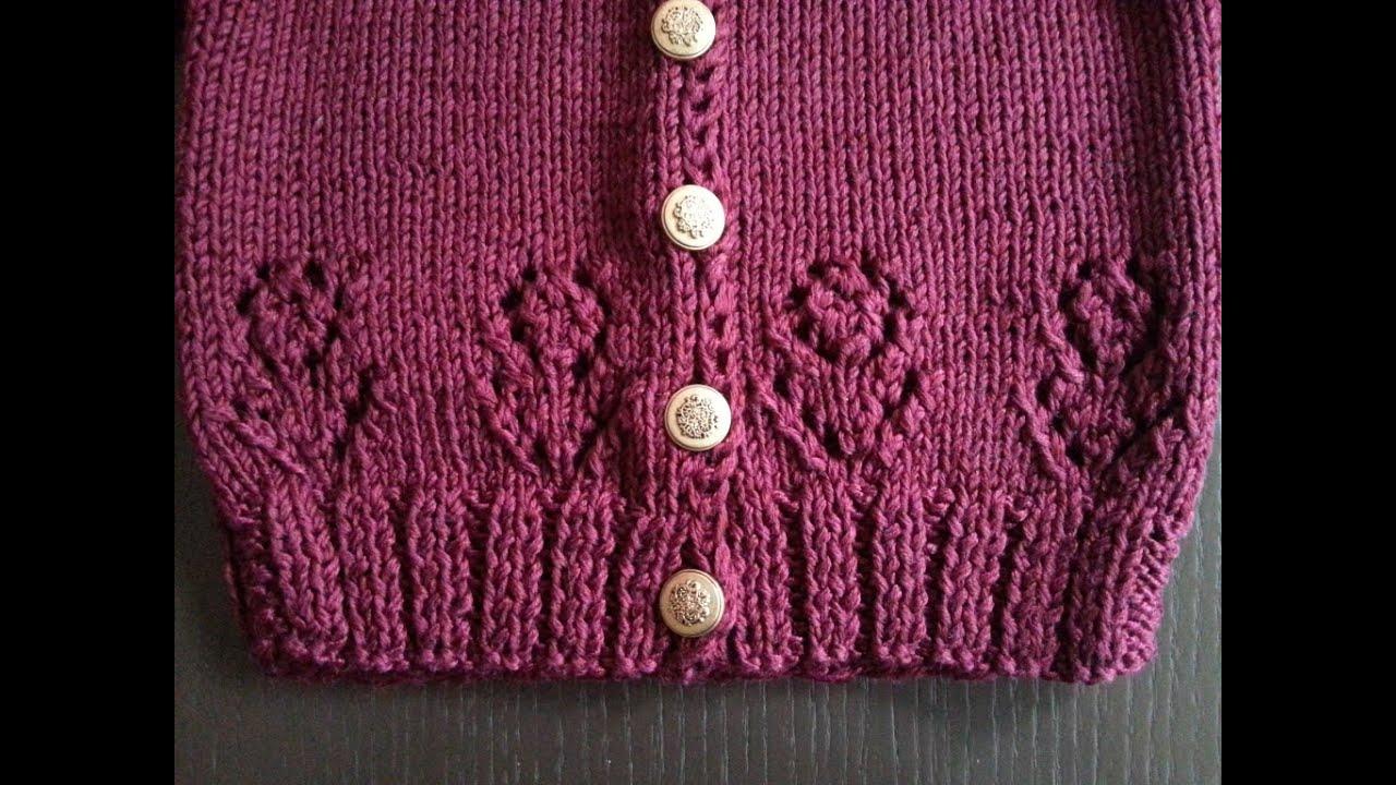 Узор цветочка для вязания спицами