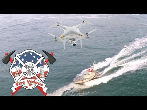 Coast Guard Station Depoe Bay heading out in the 47's chased by drone