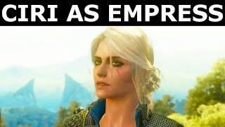 The Witcher 3 Blood and Wine - Ciri As Empress Epilogue - Ciri Visits Geralt's Home (Ending)