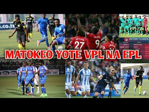 Matokeo ya VPL ,EPL na msimamo wa ligi