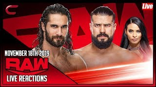 WWE RAW November 18th 2019 Live Stream: Live Reaction Conman167