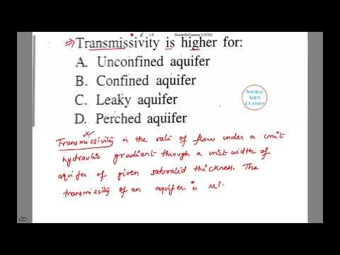 TRANSMISSIVITY GEOLOGY IFOS, UPSC, SSC CGL, CIVIL ENGINEERING, GATE, IIT JAM, BSC