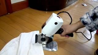 Round Knife electric scissor Cloth cutting machine cutter 100mm 220V KSM100
