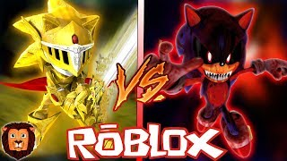 EXCALIBUR SONIC VS SONIC. EXE IN ROBLOX ? EPIC BATTLE VON CHARACTERS IN ROBLOX LEON PICARON