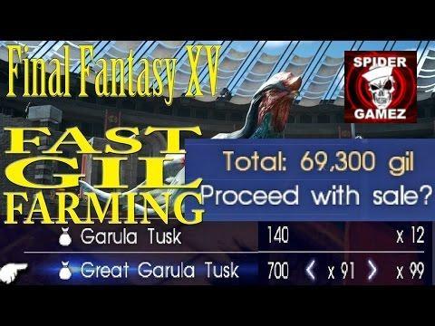 FAST GIL FARMING METHOD In Final Fantasy XV In The Beginning Of Chapter 9 (MONEY Farm Location)