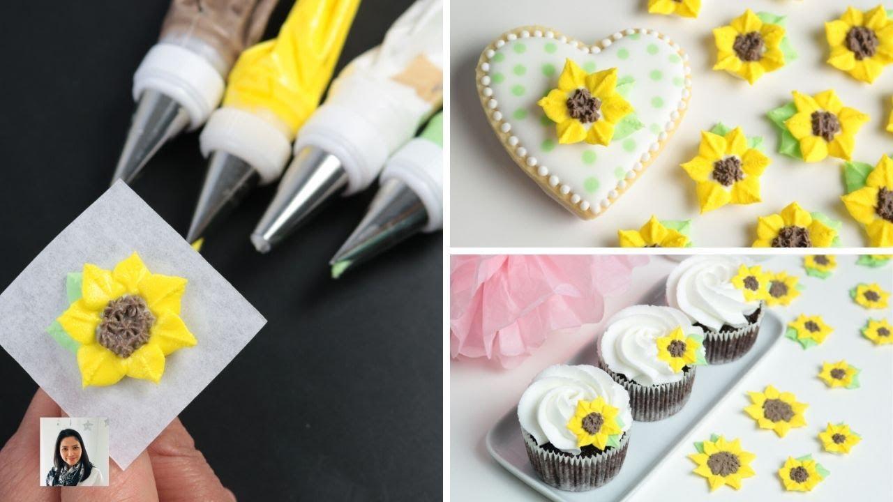 วิธีผสมสีรอยัลไอซิ่ง-นำรอยัลไอซิ่งใส่ถุงบีบ-แนะนำหัวบีบสำหรับบีบดอกทานตะวันและบีบดอกทานตะวัน