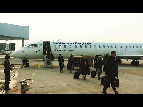 LUFTHANSA CITYLINE Business Class, CRJ900, Frankfurt to Zagreb