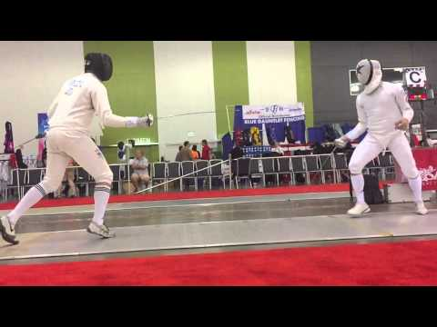 Adam Maczik vs Ari Simmons 2015 July Challenge Div 1 Mens Epee Slow Mo Replay
