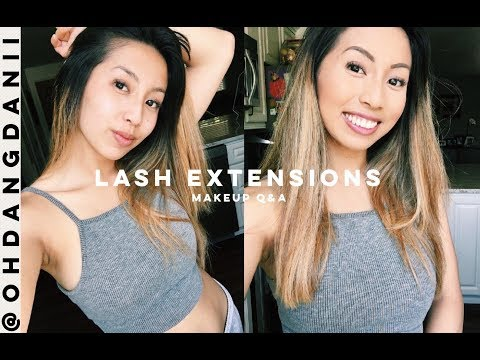 Are Eyelash Extensions Better Than Falsies? LASH EXTENSION LIFT Q&A! | @ohdangdanii