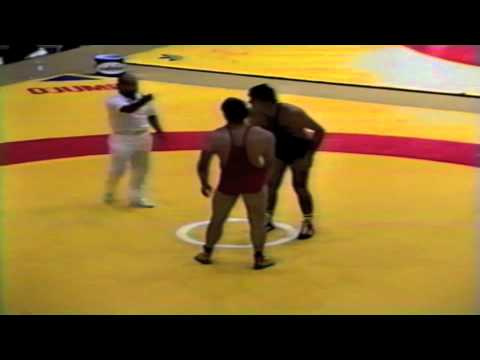 1987 Senior World Championships: 100 kg Hakan Karlsten (SWE) vs. Leri Chabelov (USSR)