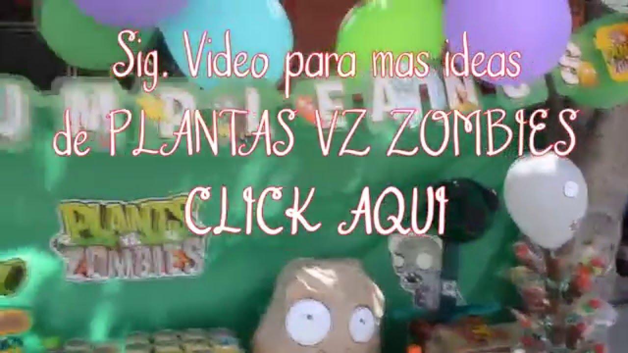 Decoraciones diy para fiesta plantas vs zombie brocheta for Decoracion con plantas