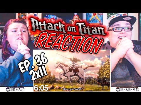 """Attack on Titan Episode 36 (2x11) """"Charge! REACTION!!"""