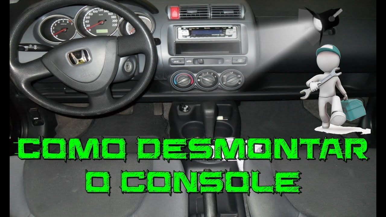 Como Trocar A Cor Da Iluminação E Desmontar O Console Do Honda Fit 2004