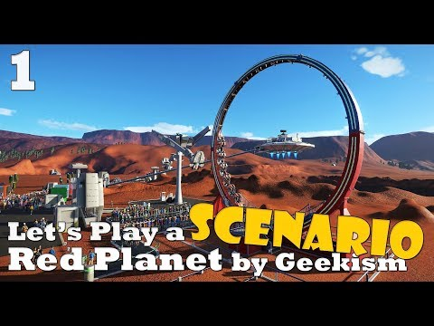 Planet Coaster: Let's Play a scenario - Red Planet - Ep. 1 - Lets try this again!