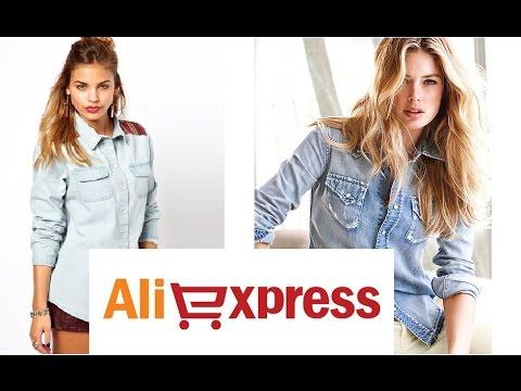 ПОСЫЛКА - ЖЕНСКАЯ ДЖИНСОВАЯ РУБАШКА (denim shirt) #Aliexpress