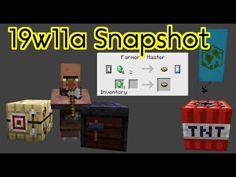 1.14 Minecraft Snapshot (19w11a) | Villager OVERHAUL, New Trades, TNT Buff, and Bug Fixes! Mp3