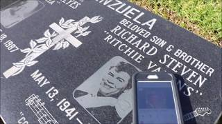 Playing La Bamba On Ritchie Valens Grave