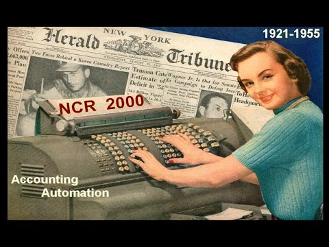 Vintage NCR Class 2000 Accounting Machine Overview (1921-55) (Computer History)