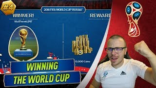 I WON THE WORLD CUP in FIFA 18! WINNING THE ONLINE TOURNAMENT with AN AMAZING TEAM!