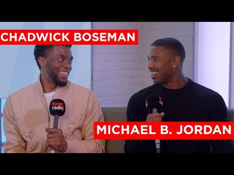 Chadwick Boseman & Michael B Jordan on Black Panther, Cast Parties & and Brag Off